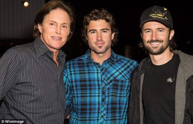 Thrilled: Bruce Jenner's sons Brody and Brandon reportedly blame Bruce's estranged wife Kris Jenner for their distant relationship from their dad