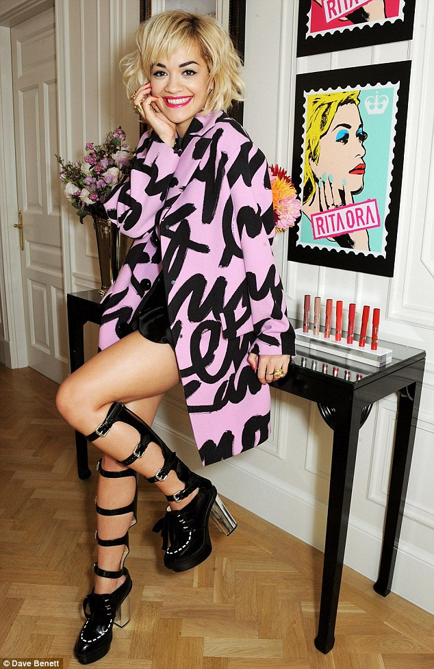 Previously: Rita Ora unveils her debut collection of Rimmel cosmetics on Thursday afternoon