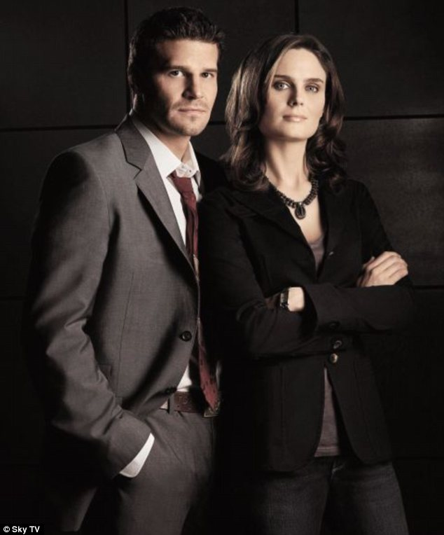 Crime-solving duo: Booth and Bones teamed up first as professional partners and later as lovers in the TV show Bones
