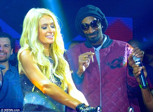 She was promoting her new album: With Snoop Dogg on Tuesday for the release party of her single Good Time