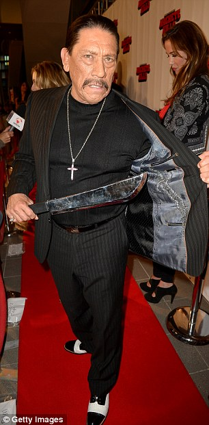 Actor Danny Trejo arrives to the
