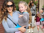 Little cheeky monkeys! Sarah Jessica Parker struggles to control her adorable tiny terrors