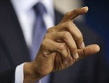 President Barack Obama gestures as he talks about the the budget and the partial government shutdown, Tuesday, Oct. 8, 2013
