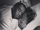 Publicity love: Cassie posts candid picture of boyfriend Diddy sleeping on top of her in bed but fans question who snapped it?