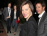 Milla Jovovich and husband Paul Anderson leave Isabel Marant