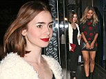 Who knew they were pals? Lily Collins and Ciara grab dinner together after striking up a friendship at Paris Fashion Week