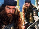 Shiver me timbers! A bearded Antonio Banderas gets his sea legs with a pirate makeover for SpongeBob SquarePants 2