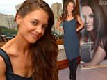 Her own best advert! All eyes are on Katie Holmes' glossy mane as she promotes her haircare brand in New York