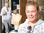 Make-up free LeAnn Rimes dresses down for a coffee run as she takes time out from filming her reality TV show