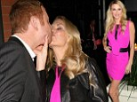 Oh what a night! Brandi Glanville kisses mystery man as she leaves dinner with Kim Richards following a charity event