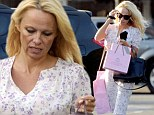 Pamela Anderson goes on shopping spree in floral tea dress
