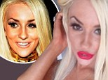 'It looks so lovely': Courtney Stodden shows off her new trout pout after getting lip injections