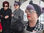 Welcome to London! Kelly and Sharoin Osbourne fight the chilly UK temperatures
