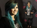 That hair will give people a Heart Attack! Demi Lovato embraces her new blue locks as she stands out at magazine party