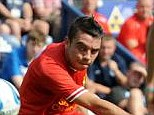 Difficulty: Iago Aspas has admitted he is finding it difficult being on the bench at Liverpool