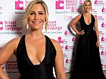 Heidi Range shows her support for Breast Cancer Campaign in plunging black dress