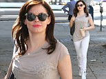 And the bride wore white... a day early! Rose McGowan gets into the wedding spirit with less than 24 hours before she ties the knot