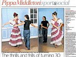 Ole! Pippa wrote in the Daily Telegraph that she felt 'a fierce Spanish passion growing within me'