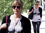 Breast is best! Selma Blair flashes her boobs during a stroll in Los Angeles... but don't worry it's only a T-shirt
