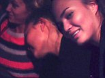 Is this Chrissy Teigen's most vulgar post yet? Model blows a raspberry on Brooklyn Decker in tipsy Instagram video... and you'll never guess where