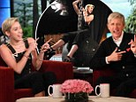 Signature look: Miley Cyrus and Ellen DeGeneres stuck their tongues out during an interview that will air on Friday on The Ellen DeGeneres Show