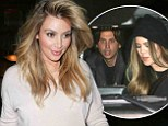 Left Kanye home to babysit? Kim Kardashian joins sister Khloe and best pal Jonathan Cheban for dinner at steakhouse