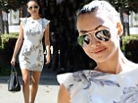 Getting ready for the big day? Newly engaged Naya Rivera shows off toned legs as she goes wedding dress shopping in Beverly Hills