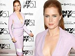 Amy Adams steals the spotlight in plunging lilac dress at the premiere of new movie Her