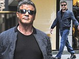 Don't call him a senior citizen! A strapping Sylvester Stallone offers plenty of attitude as he struts down the streets of New York
