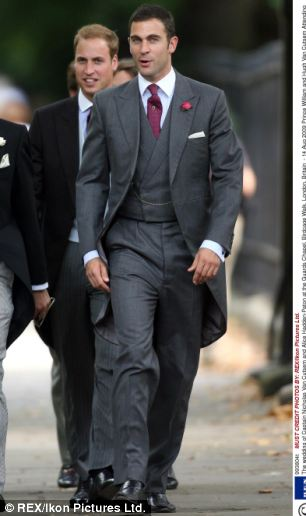 Prince William's lose childhood friend Hugh Van Cutsem is believed to be among the contenders for the role of godfather