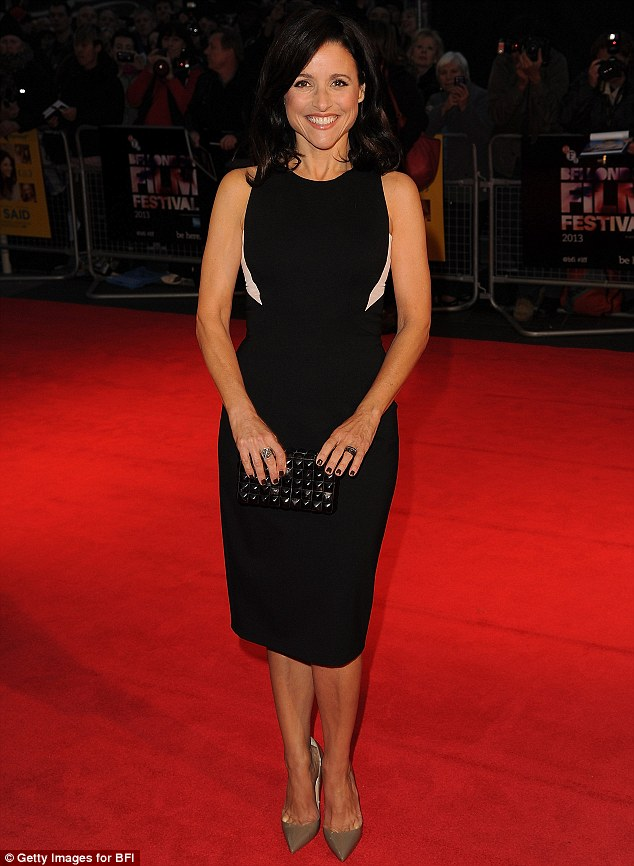 Funny lady: Julia Louis-Dreyfus attended a screening of Enough Said, which also stars James Gandolfini in one of his final film roles