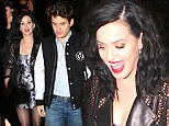 We can see you! Katy Perry fails to blend in despite wearing skimpy camouflage dress as she attends SNL party with John Meyer