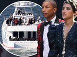Mad about plaid! Pharrell Williams and longtime love Helen Lasichanh tie the knot wearing unconventional attire