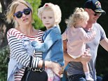 Rebecca Gayheart and Eric Dane enjoy a family day out at the playground with their two little girls