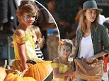 Her little Belle! Jessica Alba's daughter Honor sets her own style with a Beauty And The Beast costume at the pumpkin patch