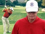 Good form: Bruce Jenner hit the links on Thursday with his son Brody who shared a video on Instagram