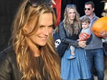 Molly Sims takes her son and husband for a fun family day out at Hollywood's latest hotspot... the pumpkin patch