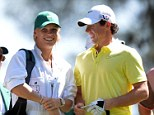 Loved up: This was Rory McIlroy and Caroline Wozniacki at The Masters earlier this year - but the Northern Irishman is reported to have called time on their relationship