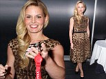 Not so purrr-fect! Jennifer Morrison underwhelms in a shapeless animal print frock at Comic Con in New York