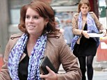 The Princess and the pizza: Eugenie fits in with the locals as she picks up New York favourite for lunch after moving Stateside