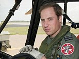 Defence: Pictured in his RAF uniform, Prince William is preparing to take on more royal duties as he looks to ensure he can protect his family in the event of an attack
