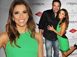 Eva Longoria lights up red carpet in bright green dress at Eva's Heroes Celebrity Casino Night