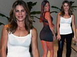 Scandalous vs. subtle: Claudia Romani, left, wore a skimpy dress, making Jillian Michaels, right appeared toned down in comparison as the two attended a reception for Sweat USA at Shore Club in Miami Beach