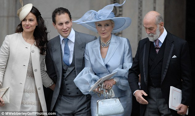 Sophie Winkleman, Freddie and Prince Michael at the Queen's Diamond Jubilee service of thanksgiving