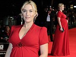 Celebrating early! Pregnant Kate Winslet looks ready for Christmas in a festive red sequinned gown for Labor Day premiere