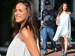 Things that go bump in the afternoon! Dania Ramirez shows off her baby bump as she lunches with John Beverly Amos Land
