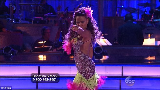 Winning the judges: The 32-year-old performed a sultry Cha cha