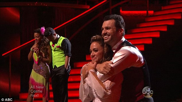 The choice: Leah Remini and Tony Dovolani were saved as Milian was ousted