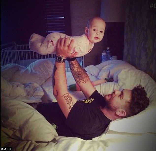 Doting dad: Jack pictured with his daughter Pearl