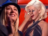 The Big Bang Theory star Kaley Cuoco fought back tears on Monday's episode of The Voice as her sister faced elimination, but jumped for joy after another coach saved her.